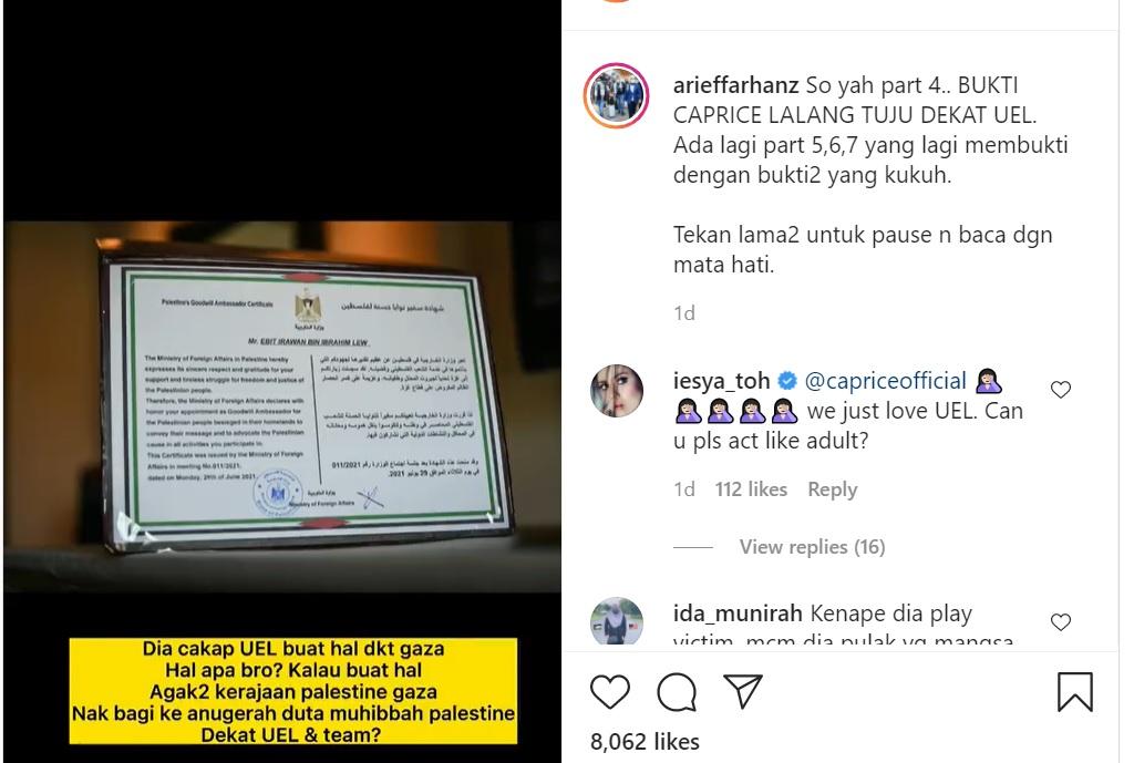 PA Ebit Lew jawab dakwaan Caprice