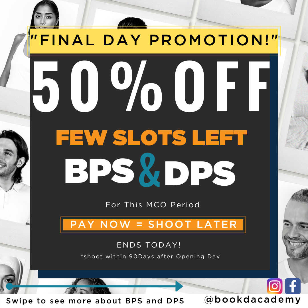 !! FINAL DAY OFFER !!  GET 50% OFF the bookd! Academy Profile Development Shoots…