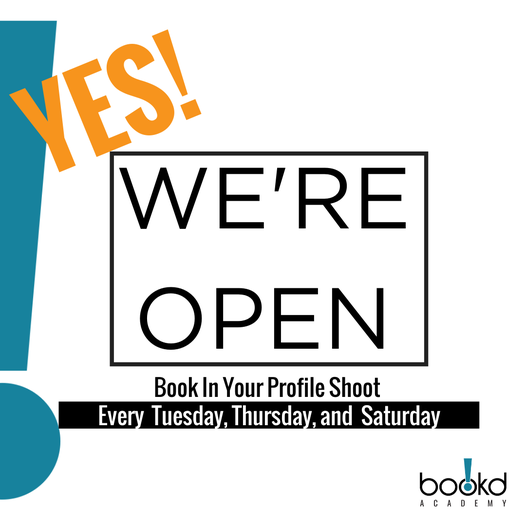 WE'RE OFFICIALLY BACK & OPEN for your profile shoots!  @bookdacademy studio at P…